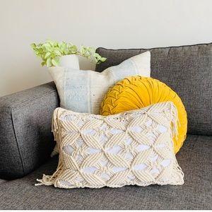"Macrame Fringe Lumbar Pillow Sham Cover 12"" x 18"""